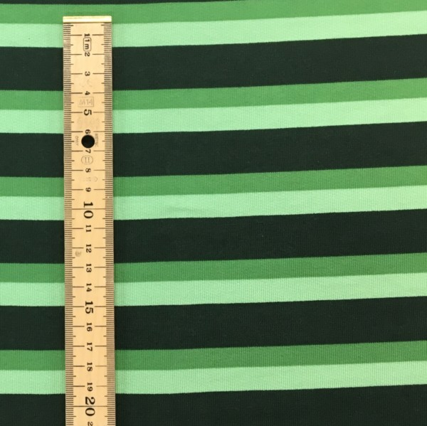Fleece Back Sweatshirt Jersey - Stripes - Green