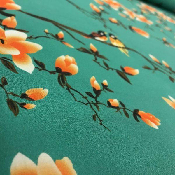 Lady McElroy 100% Cotton 'Marlie' Lawn - Flora Songbird