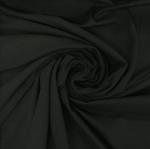 Organic Cotton Spandex Jersey - Black