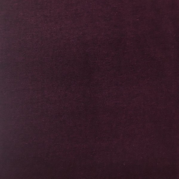 Fleece Back Sweatshirt Jersey - Burgundy Melange