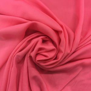 Plain Lightweight 100% Viscose - Coral Pink