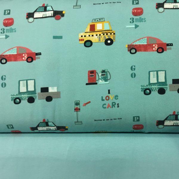 Stof of Denmark Avalana Jersey - I love Cars