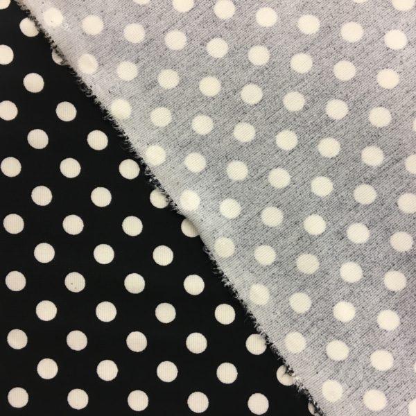 Ponte Roma Heavy Jersey - Black/Cream Polka Dots