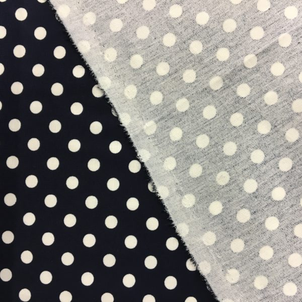 Ponte Roma Heavy Jersey - Navy/White Polka Dots