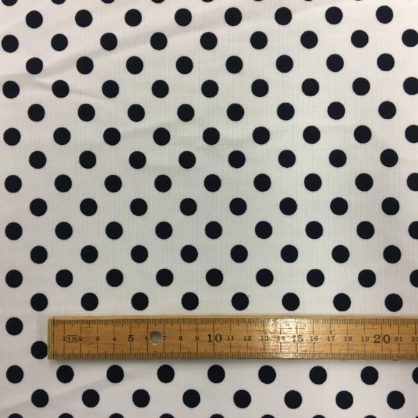 Ponte Roma Heavy Jersey - White/Navy Polka Dots