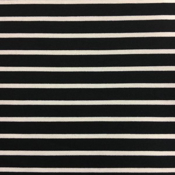 Ponte Roma Heavy Jersey - Black/Cream Stripes
