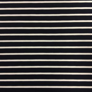 Ponte Roma Heavy Jersey - Navy/White Stripes