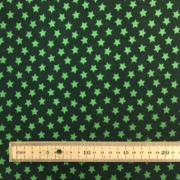 Fleece Back Sweatshirt Jersey - Stars - Green