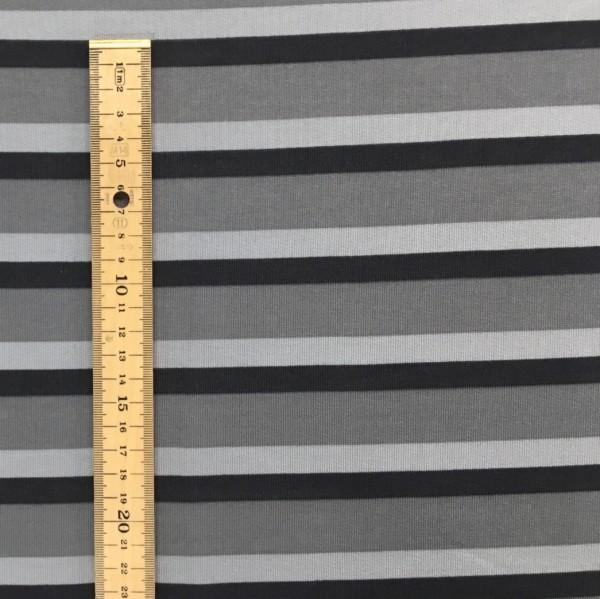 Fleece Back Sweatshirt Jersey - Stripes - Grey