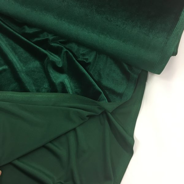 Smooth Stretch Velvet - Bottle Green