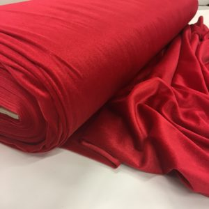 Smooth Stretch Velvet - Pillarbox Red
