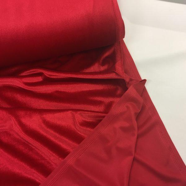 Smooth Stretch Velvet - Pillarbox Red