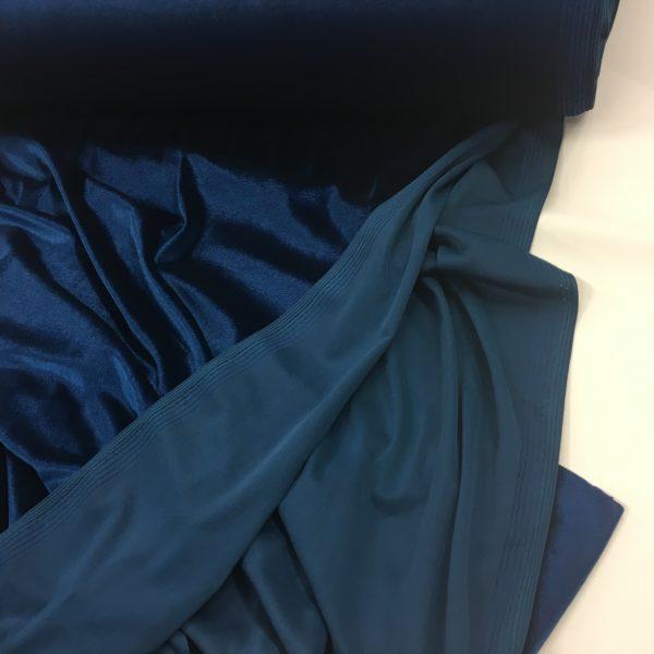 Smooth Stretch Velvet - Peacock Blue