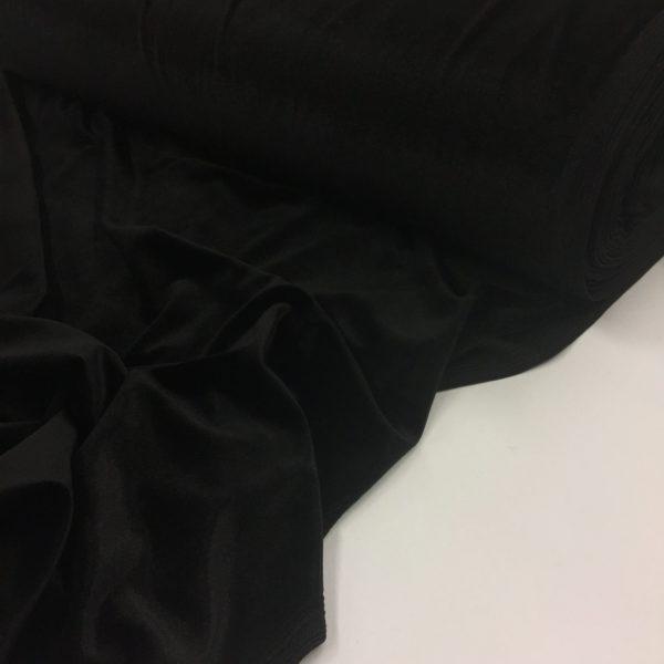 Smooth Stretch Velvet - Jet Black