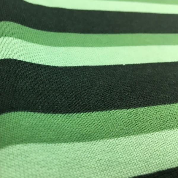 Fleece Back Sweatshirt Jersey - Stripes - Green