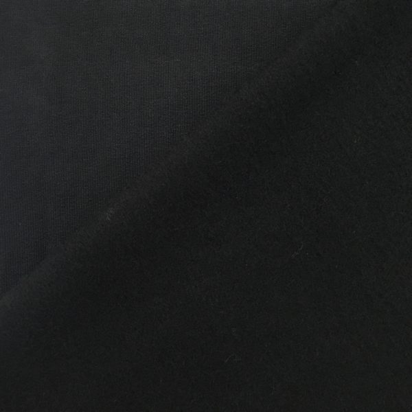 Soft Brushed Back French Terry Jersey - Black