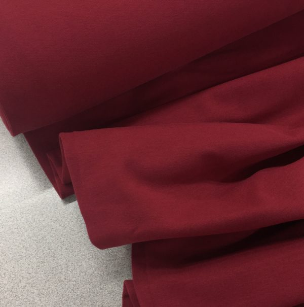 Soft Brushed Back French Terry Jersey - Wine