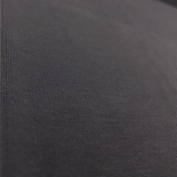 Soft Brushed Back French Terry Jersey - Dark Grey