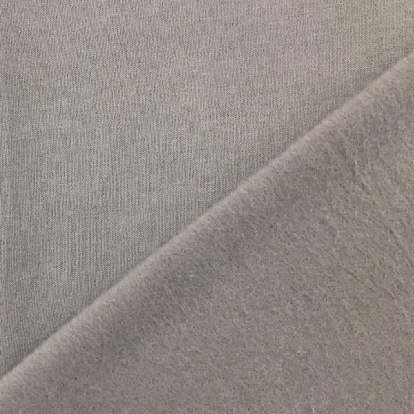 Soft Brushed Back French Terry Jersey - Light Grey