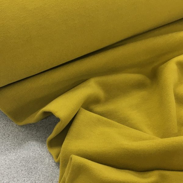 Soft Brushed Back French Terry Jersey - Chartreuse