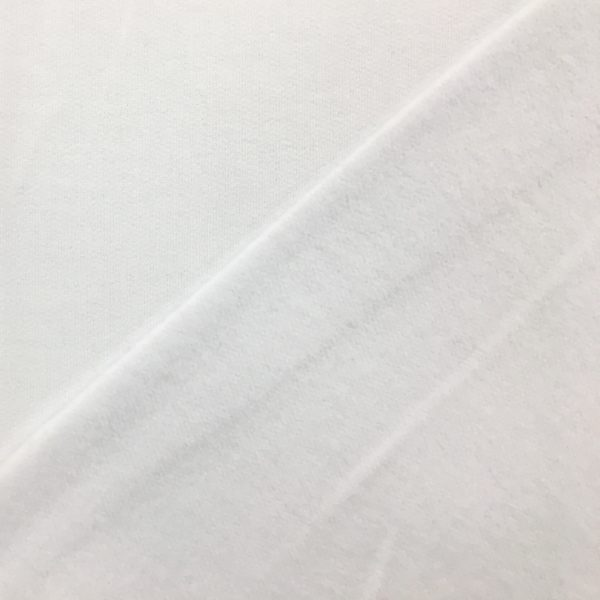 Soft Brushed Back French Terry Jersey - White