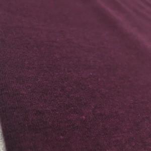 Fleece Back Sweatshirt Jersey - Burgundy Melange