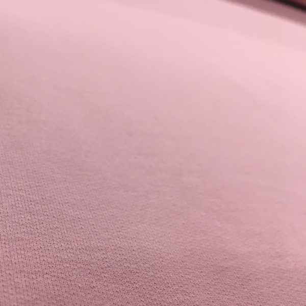 Soft Brushed Back French Terry Jersey - Pink