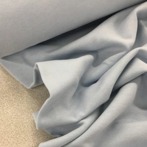 Soft Brushed Back French Terry Jersey - Pale Blue