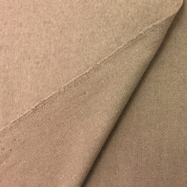 Short Pile Wool Mix Coat/Outerwear Fabric - Sand
