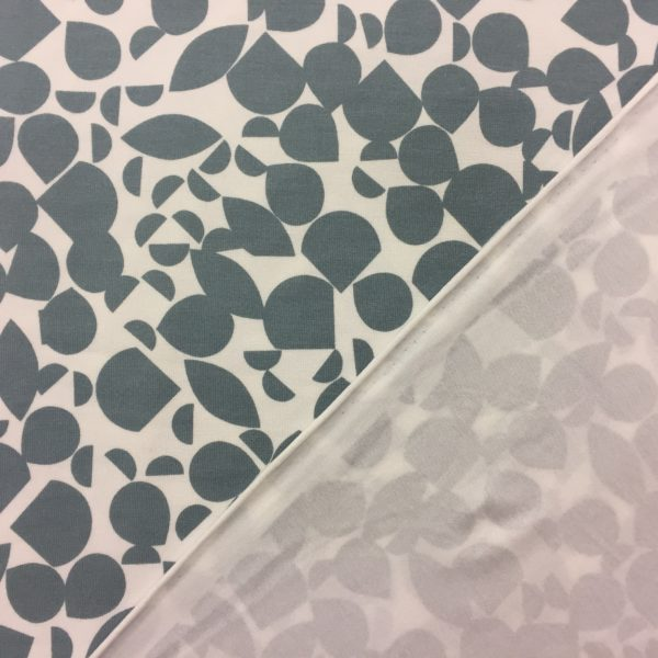 Viscose Spandex Jersey - Geo Scatter - Green-Grey