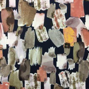 Lady McElroy Fabrics - Brushstrokes -Dusk- Printed Scuba Jersey