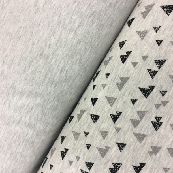 Stof of Denmark Avalana Sweatshirt Melange Jersey - Triangles