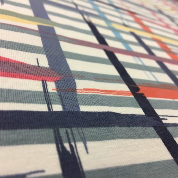 Stof of Denmark Avalana Jersey - Painted Criss Crosses