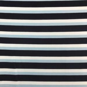 Fleece Back Sweatshirt Jersey - Stripes - Blue
