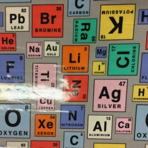 100% Cotton + PVC Coating - Periodic Elements