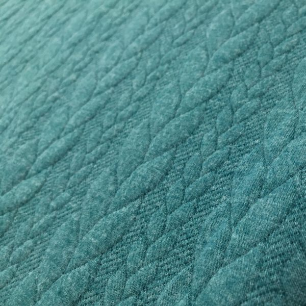 Cable Knit Cloque Jersey - Aqua