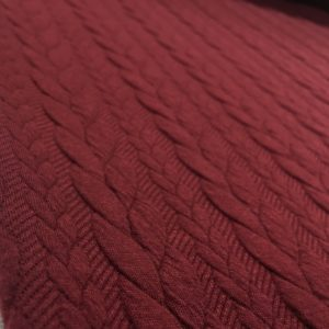 Cable Knit Cloque Jersey - Berry