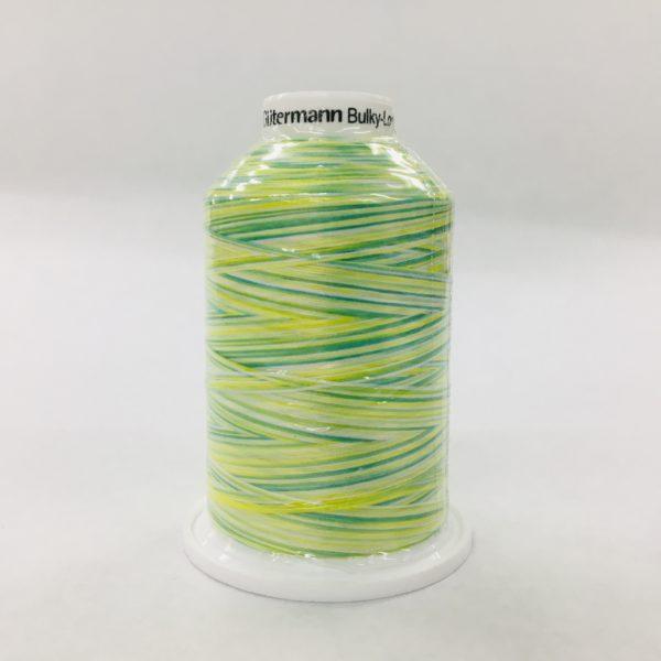 Gutermann Bulk Overlocking Thread - 1000m - Variegated Green/Yellow