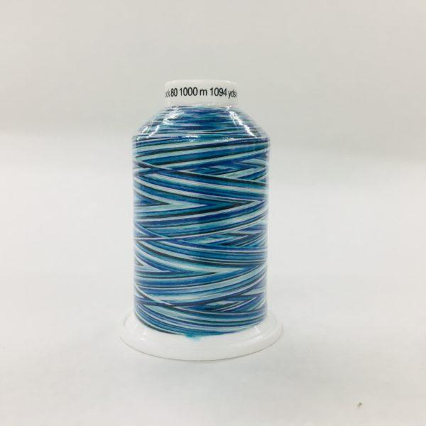 Gutermann Bulk Overlocking Thread - 1000m - Variegated Blue