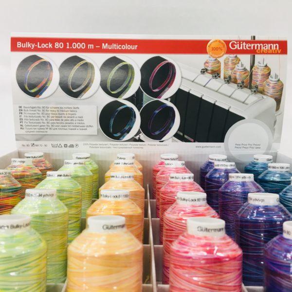 Gutermann Bulk Overlocking Thread - 1000m - Variegated Rainbow Neon