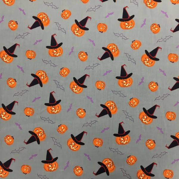 100% Cotton Halloween Prints - Pumpkins