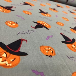 100% Cotton Halloween Prints - Pumpkins