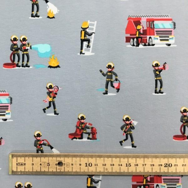 Cotton Spandex Jersey - Fire Rescue - Grey
