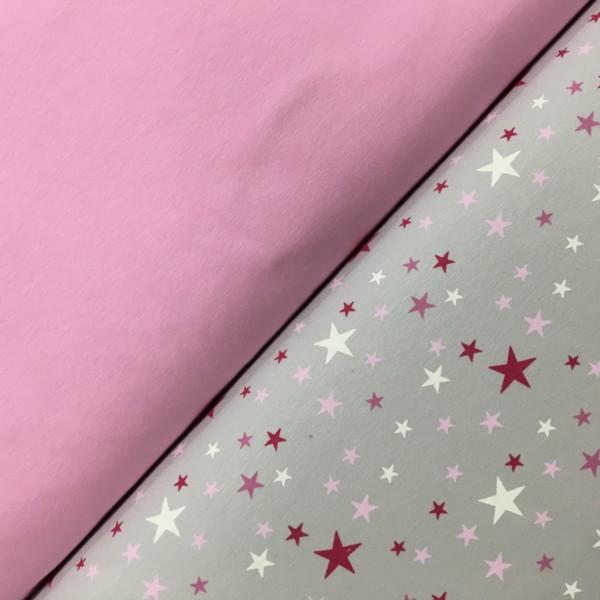 Stof of Denmark Avalana Jersey – Pink Stars