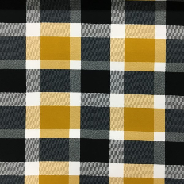 Stof of Denmark Avalana Loop Back French Terry Jersey - Giant Check - Ochre