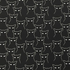 Stof of Denmark Avalana Brushed Back French Terry Jersey - Black Cats