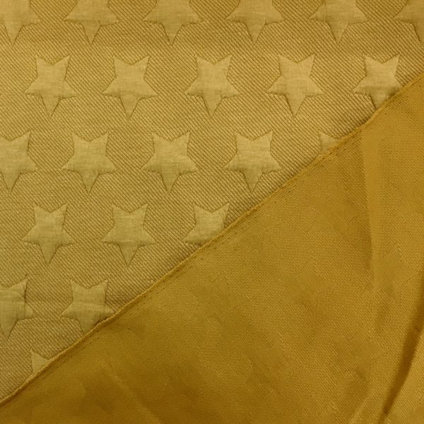 Quilted Cloqué Jersey - Star - Yellow