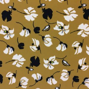 Lady McElroy Fabrics - Ochre Stems Printed Jersey