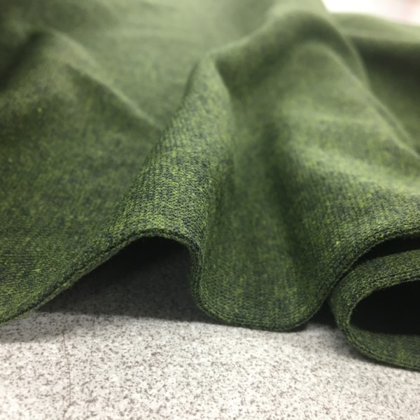 Tubular Jersey Rib/Cuffing - Moss Green Melange