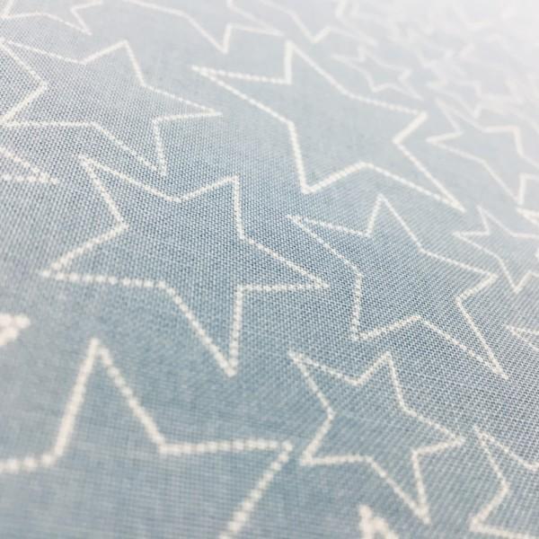 100% Cotton Christmas Prints - Stoffabrics 'Snow House' - Pale Blue Stars